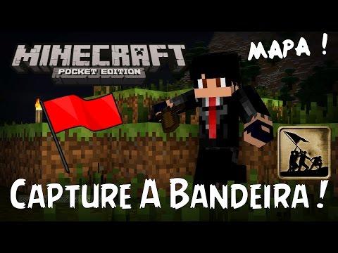 Minecraft PE - Mapa Capture A Bandeira ! Capture The Flag !!!! | 0.10.x , 0.11.x :D