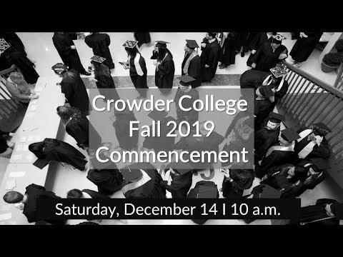 Crowder College Fall 2019 Graduation