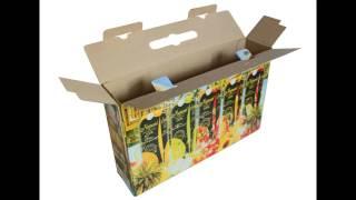 видео Картонные коробки с печатью