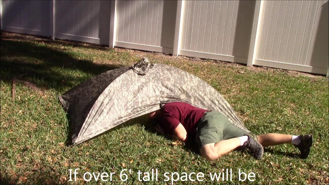 DIY GI Poncho Tent / Alpha Tent & Alpha Tent u0026 Alpha Poncho Tent In The Woods
