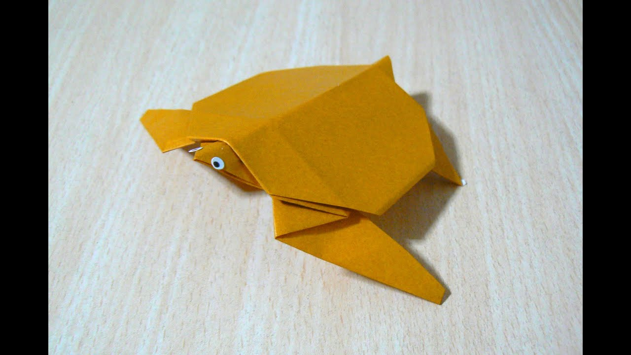 Origami l 39 art du pliage de papier tortue de mer youtube - Art du pliage de serviette ...