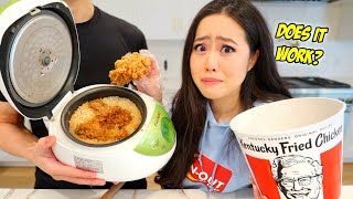 we tried Japan's famous KFC RICE COOKER FRIED CHICKEN HACK!