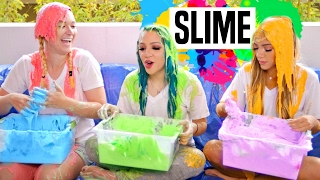 THE RAINBOW SLIME CHALLENGE w/ Niki and Gabi ft. Alisha Marie