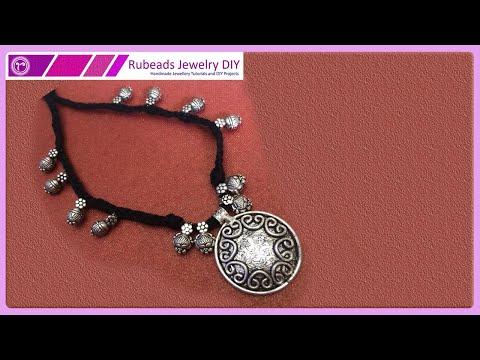 Braided Dori with Kolhapuri Beads Necklace | Handmade Jewellery Making | Rubeads Jewelry