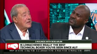 ESPN REACTS TO BOB ARUM SAYING LOMACHENKO IS THE GREATEST SINCE MUHAMMED ALI thumbnail