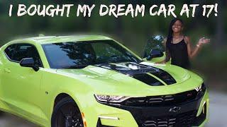 I BOUGHT MY DREAM CAR (2019 CAMARO 2SS) AT 17!  UPDATE + CAR TOUR