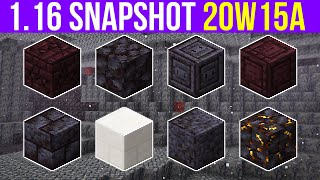 Minecraft 1.16 Snapshot 20w15a New Basalt Deltas Biome & Tons Of New Blocks!