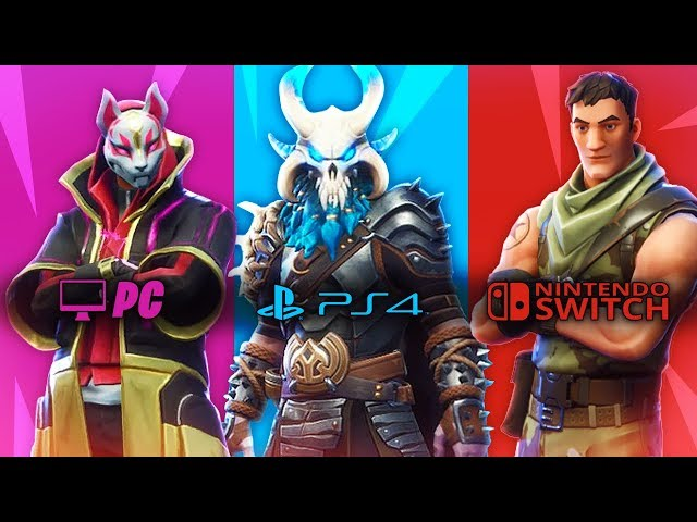 FORTNITE: PC vs PS4 vs NINTENDO SWITCH in 1 UNICO VIDEO! Fortnite Battle Royale ITA!