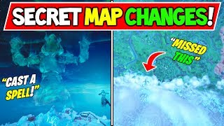 'NEW' FORTNITE SNOWFALL EVENT SECRETS MAP CHANGES! Polar Peak Event (Fortnite Saison 7 Storyline)