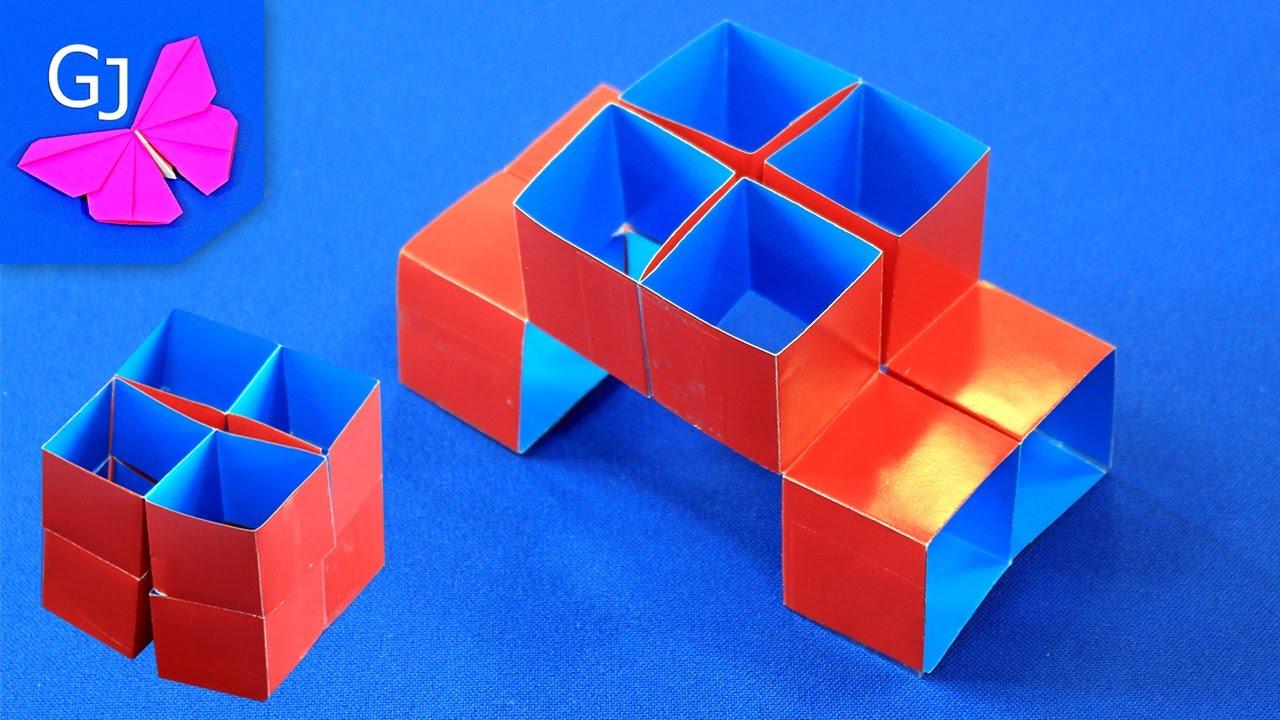 оригами куб роза схема