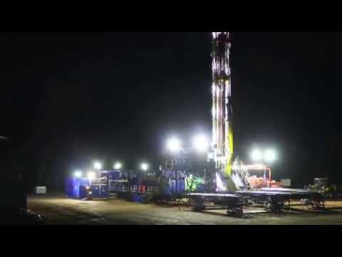 Saxon Energy Land Drilling Rig Move Time Lapse
