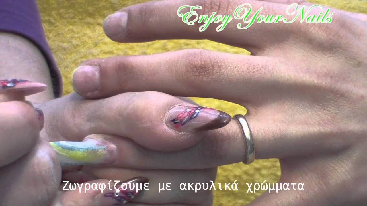 Tip with Glitter by Enjoy Your Nails - YouTube