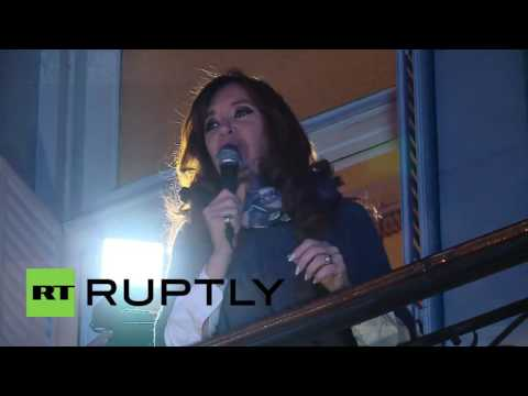 Argentina: Kirchner arrives in Buenos Aires for Hugo Chavez commemoration event