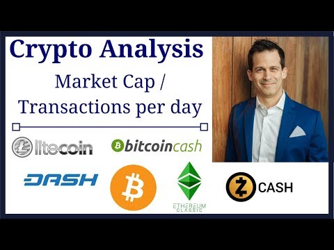 Cryptocurrency price analysis comparing transactions to market cap