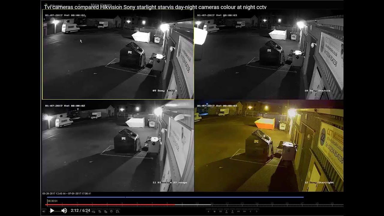 Tvi cameras compared Hikvision Sony starlight starvis day-night cameras  colour at night cctv