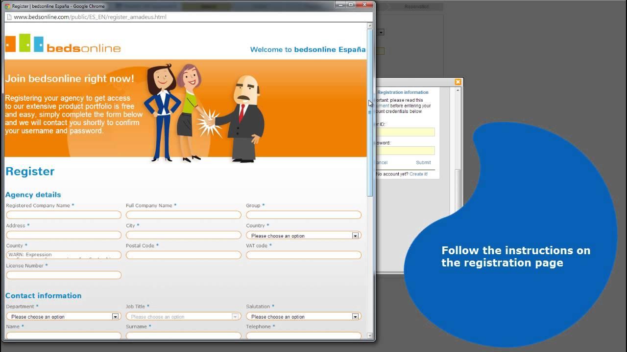 Amadeus Hotels Plus: quick tips on registration