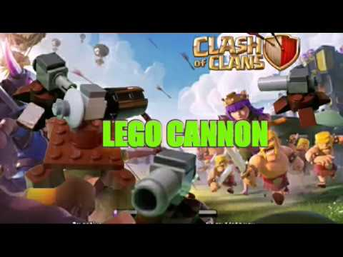 How to build Lego clash of clans cannon [ level 1-6 ]