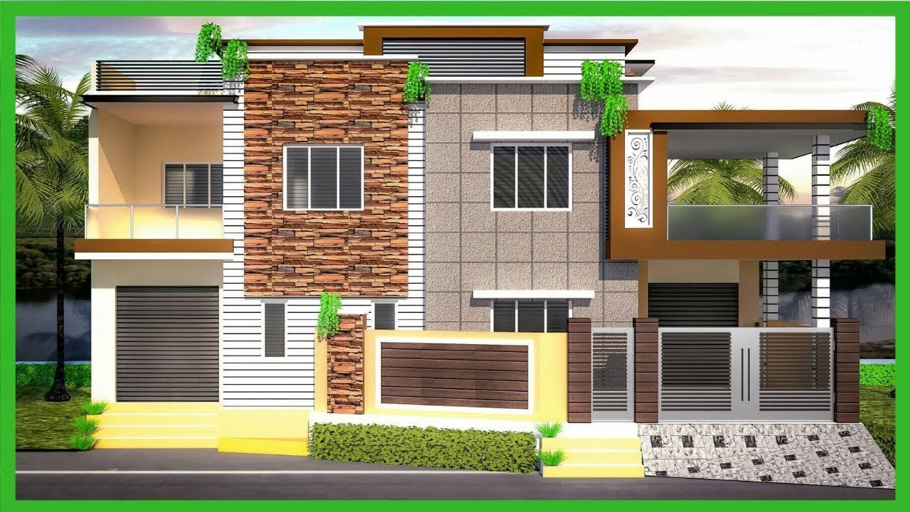 Most Beautiful Modern House Elevation Designs 2019 | 3D ...