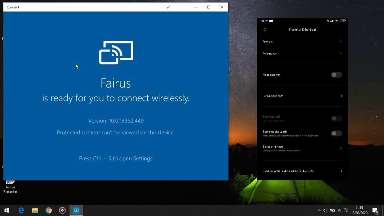Cara Mirror di Windows 10 Menggunakan Android - YouTube
