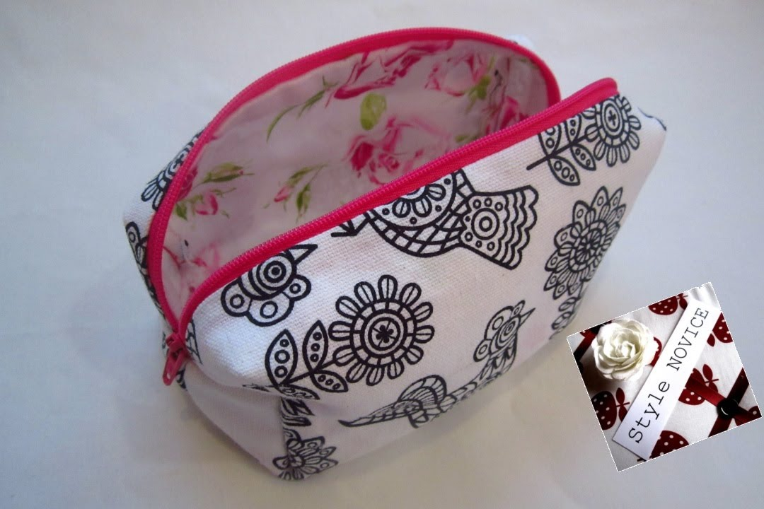 Step By Sewing Diy Make Up Bag