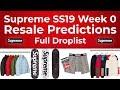 Supreme SS19 Week 0/Week 1 Resale Predictions & Full Droplist