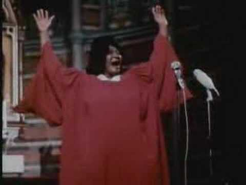 MAHALIA JACKSON Live during European tour late 1960's