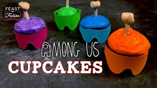 How to Make Crewmate Cupcakes from Among Us!  Feast of Fiction  Video Game Food IRL Real