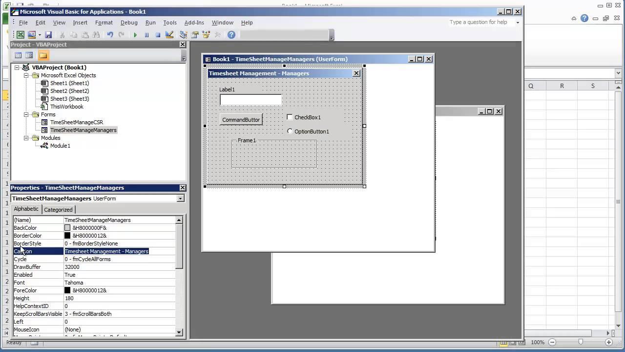 Name management vba - Vba Programming For Excel 2010 V4 03 Userform Gui Changing The Title Or Caption Of Userform