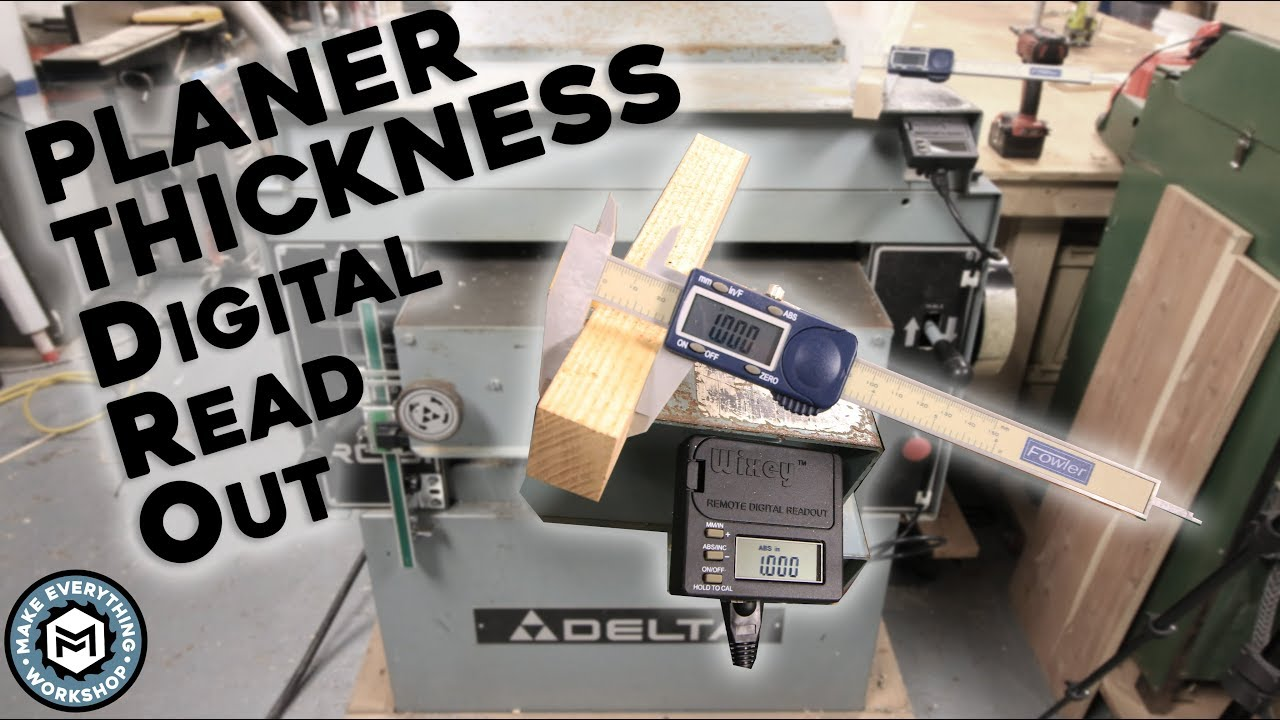 Portable DRO Digital readout for wood Planer and Thicknesser