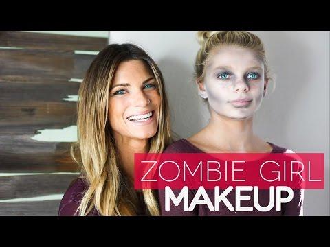 EASY Dead Girl (Zombie) Makeup for Kids! | Halloween 2016