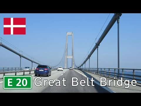 Denmark: E20 Great Belt Bridge (2018)