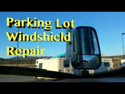 Exploring Whitehorse, Yukon Territory ~ WalMart RV Windshield Repair #9