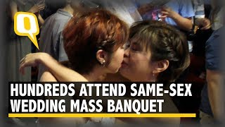 Taiwanese Same-Sex Couples Wed at Vibrant Banquet   The Quint