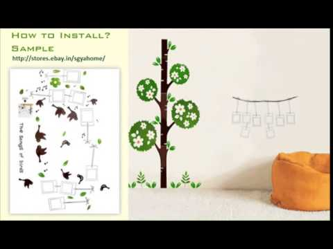 Easy Way To Install SYGA Wall Decals Wall Stickers YouTube YouTube - Wall decals divisoria