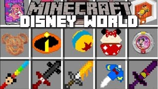 Minecraft DISNEY WORLD MOD / MARVEL, WINNIE THE POOH & MANY MORE!! Minecraft