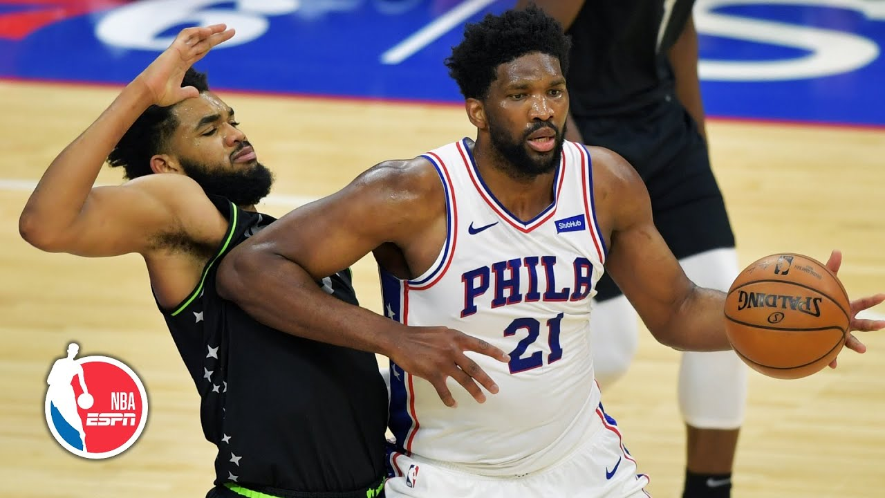 Download Joel Embiid & Karl-Anthony Towns get physical in 76ers' win vs. Timberwolves [HIGHLIGHTS] | ESPN NBA