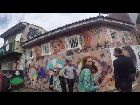 "Walking through Beco Do Batman (""Batman Alley"") in São Paulo, Brazil"