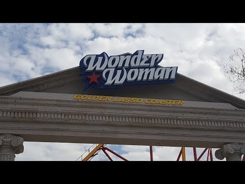 First ever run of Wonder Woman Golden Lasso Coaster at Six Flags Fiesta Texas