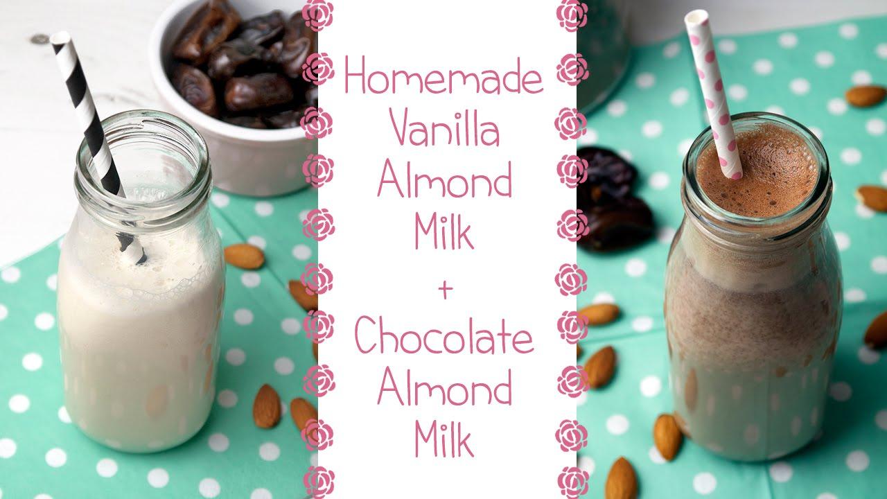 How to Make Almond Milk + Chocolate Almond Milk Recipe - YouTube