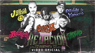 Смотреть клип Sech, Daddy Yankee, J Balvin Ft. Rosalía, Farruko - Relación Remix