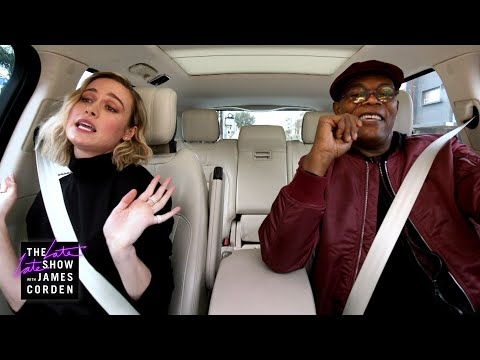Samuel L. Jackson & Brie Larson Sing Ariana Grande's 7 Rings - Carpool Karaoke: The Series Preview -