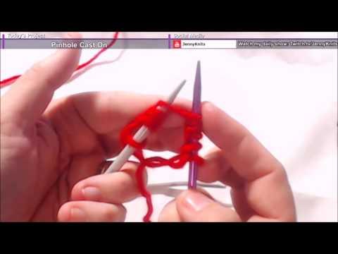 Knitting a Pinhole Cast On