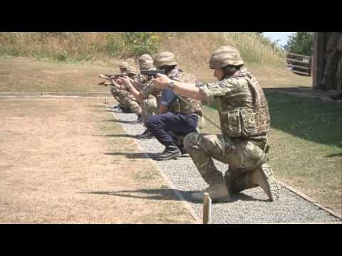 Training begins on new pistols at HMS Raleigh
