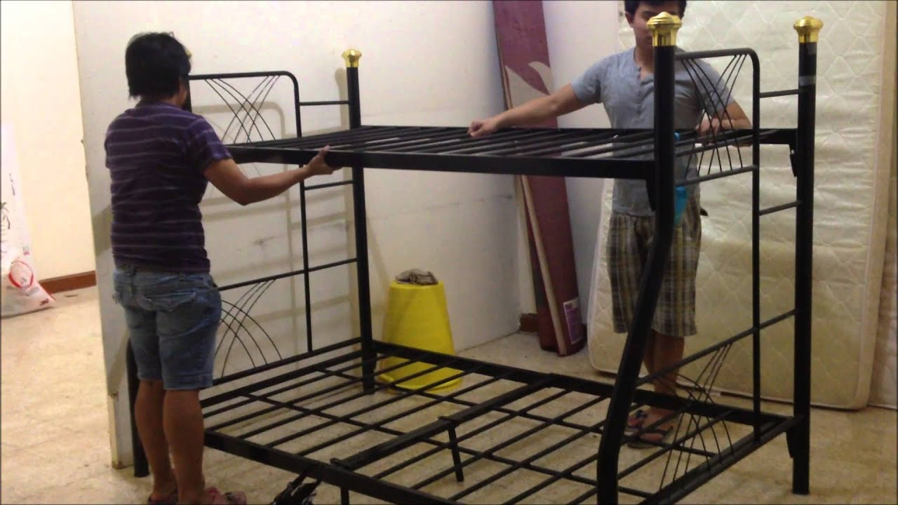 HOW TO ASSEMBLE A DOUBLE DECK BED - YouTube