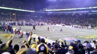 2011 AFC Championship. Black n Yellow into Steeler Super Bowl Song