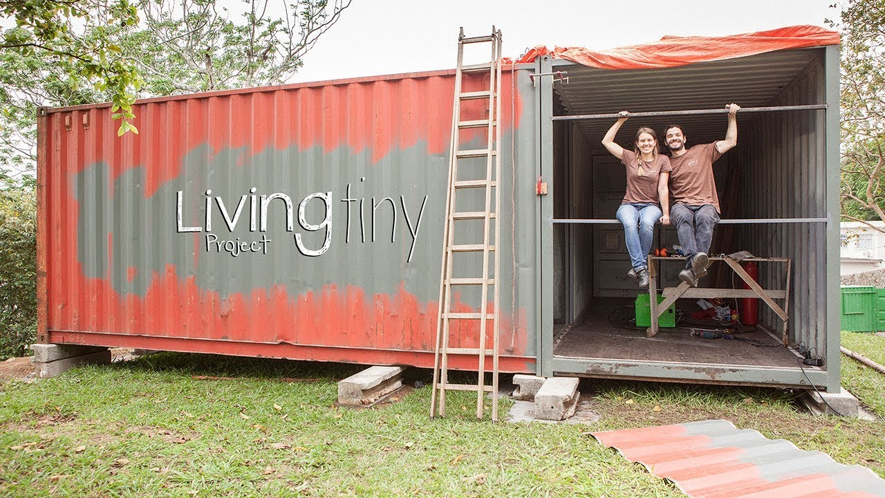 Building A Shipping Container Wall Tiny Shipping
