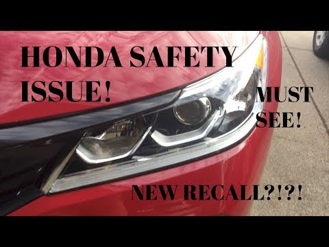 HONDA ACCORD DRL LED RECALL!!?!?! SAFETY ISSUE!?!