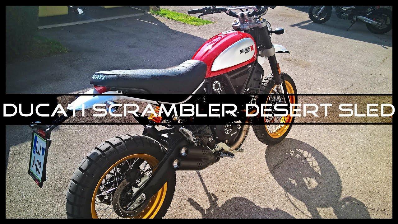 Ducati Scrambler Desert Sled Exhaust Sound Newmotorjdico