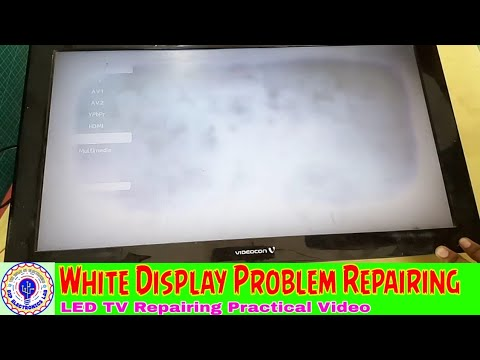LED TV White Display Problem Repairing With Practical
