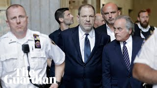 Harvey Weinstein arrives at court to enter not guilty plea